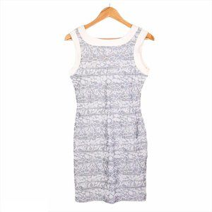 iKito Gray White Texture Print Bodycon Mini Dress